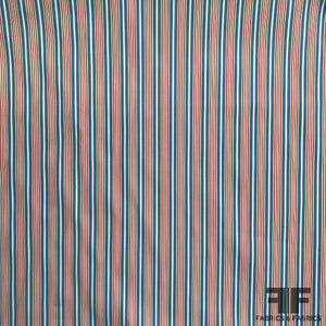 Striped Cotton Shirting - Red/White/Blue