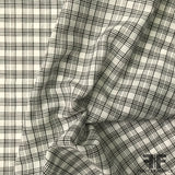 Plaid Cotton Shirting - Black/White