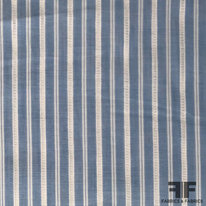 Multi Striped Cotton Shirting - Blue/White
