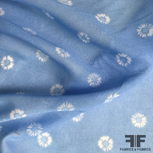 Floral Cotton Woven - Blue/White