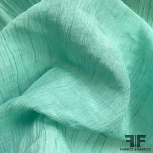 Crinkled Cotton Shirting - Seafoam - Fabrics & Fabrics NY