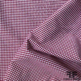 Gingham Cotton Shirting - Red/White