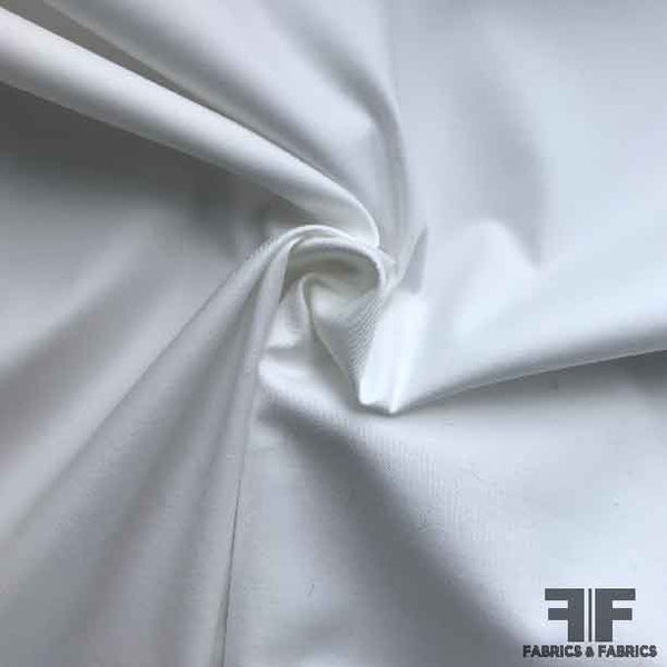 Stretch Cotton Shirting - White