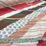 Patchwork Embroidered Cotton - Multicolor - Fabrics & Fabrics