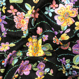 Floral Embroidered Cotton - Multicolor