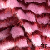 Striped Faux Fur - Purple/Maroon - Fabrics & Fabrics