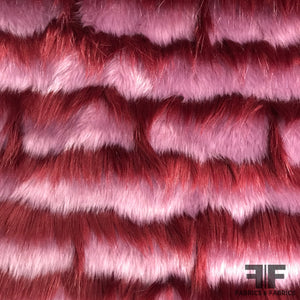Striped Faux Fur - Purple/Maroon