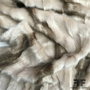 Ultra Soft Faux Fur - Tan/White