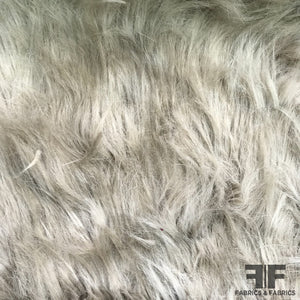 Long Pile Faux Fur - Beige