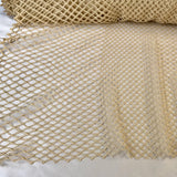 Italian Netting Lattice Guipure Lace - Cream/Beige