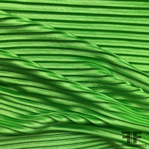 Pleated Polyester/Rayon Knit - Green