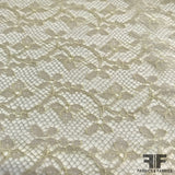 Delicate Floral Chantilly Lace - Beige - Fabrics & Fabrics NY