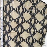Snake Print Finished Sueded Leather - Beige/Black - Fabrics & Fabrics
