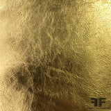 Metallic Foiled Leather - Gold - Fabrics & Fabrics