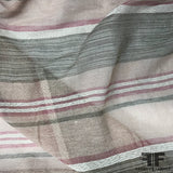 Loosely Woven Striped Linen - Multicolor