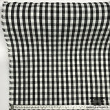 Italian Gingham Linen - Black/White