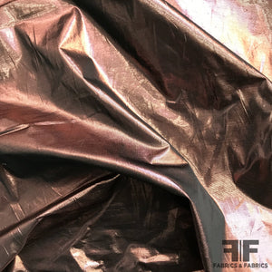 Italian Metallic Lamé - Copper/Red