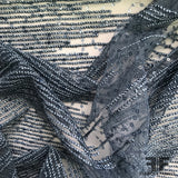 Beaded/Embroidered Sequin Netting - Blue - Fabrics & Fabrics NY