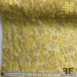 Embroidered Novelty Netting - Yellow - Fabrics & Fabrics NY