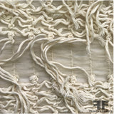 Ruched Novelty Netting - Cream