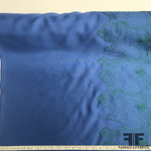 Novelty Embroidered Silk - Blue