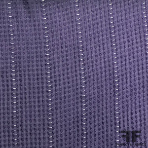 Embroidered Rayon - Purple/Silver