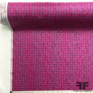 Plaid Textured Novelty - Pink/Black