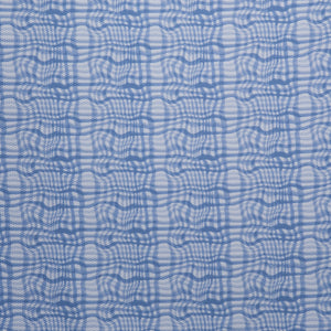 Abstract Checkered Print Novelty - Blue/White