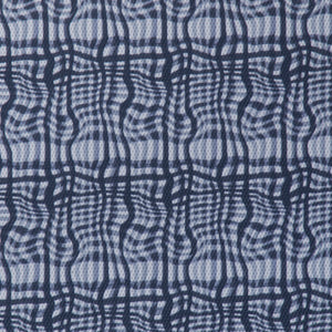 Abstract Checkered Print Novelty - Navy/White