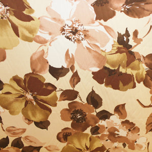 Floral Printed Cotton - Beige/Brown