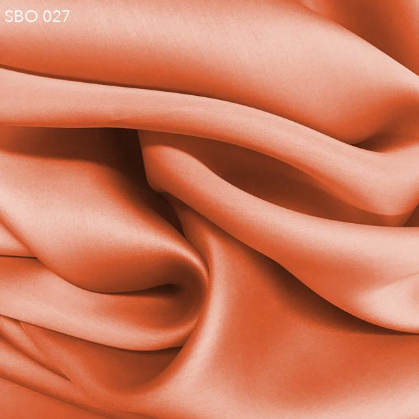 Orange Satin Faced Organza - Fabrics & Fabrics