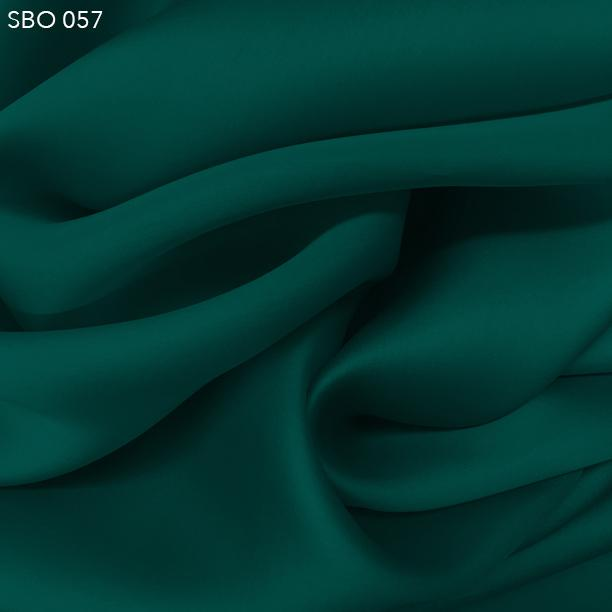 Deep Teal Green Satin Faced Organza - Fabrics & Fabrics
