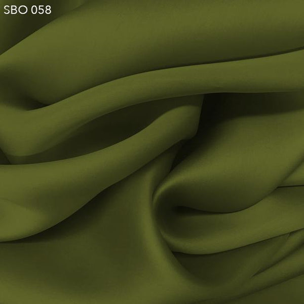 Sage Green Satin Faced Organza - Fabrics & Fabrics