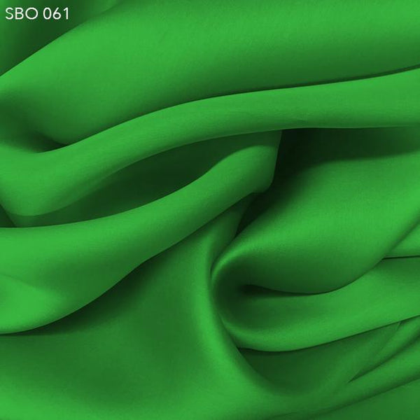 Bright Green Satin Faced Organza - Fabrics & Fabrics