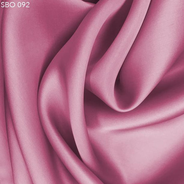 Bubblegum Pink Satin Faced Organza - Fabrics & Fabrics