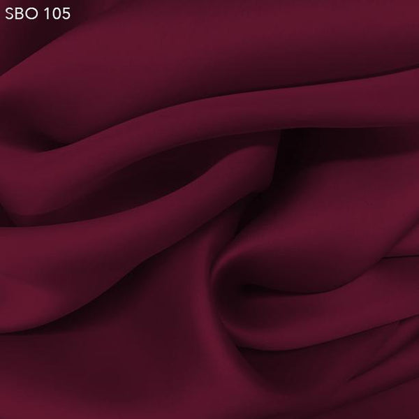 Red Satin Faced Organza - Fabrics & Fabrics