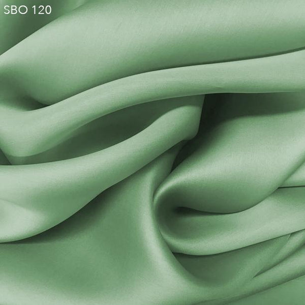 Seafoam Green Satin Faced Organza - Fabrics & Fabrics