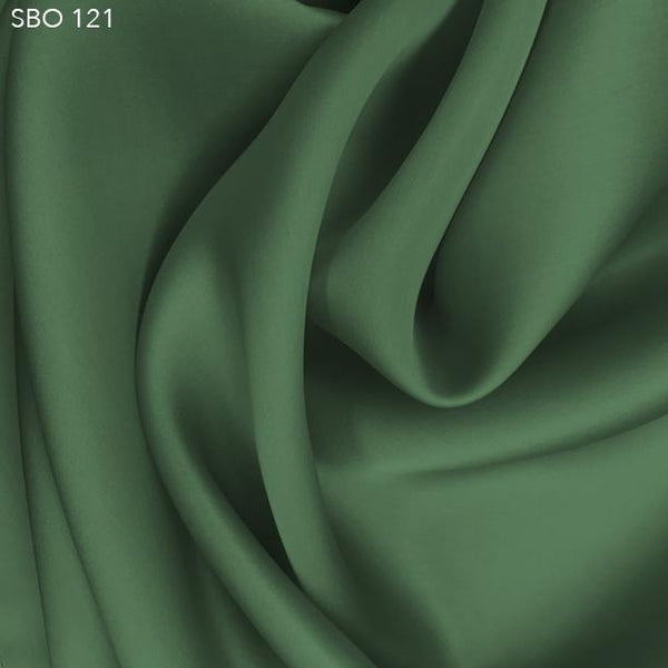 Peapod Green Satin Faced Organza - Fabrics & Fabrics
