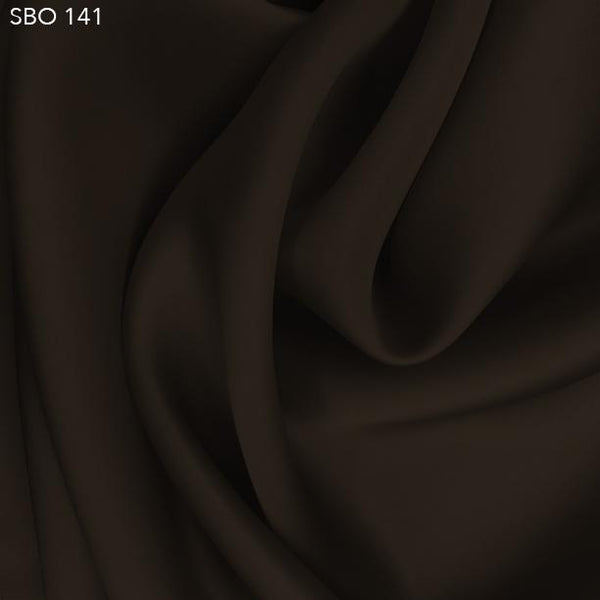 Espresso Brown Satin Faced Organza  - Fabrics & Fabrics