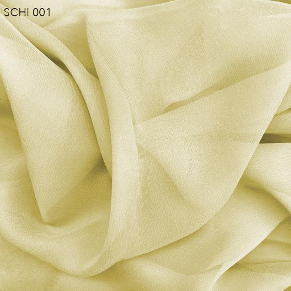 Pineapple Cream Silk Chiffon  - Fabrics & Fabrics