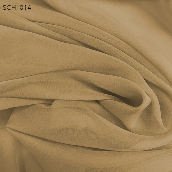 Silk Chiffon - Biscotti Brown