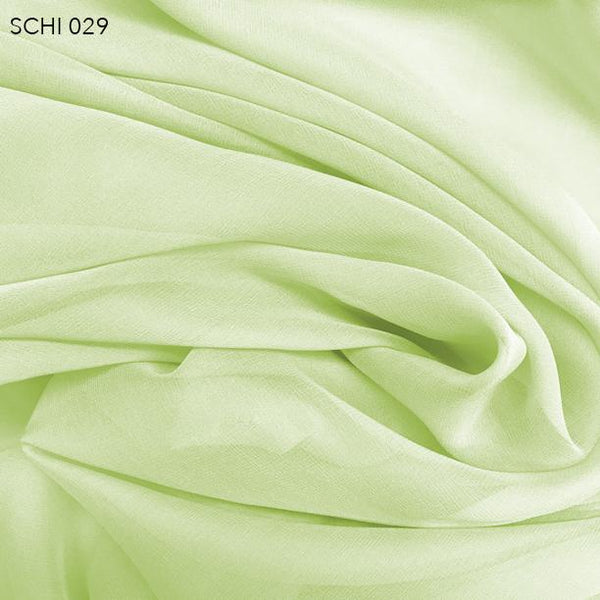 Lime Cream (Green) Silk Chiffon - Fabrics & Fabrics