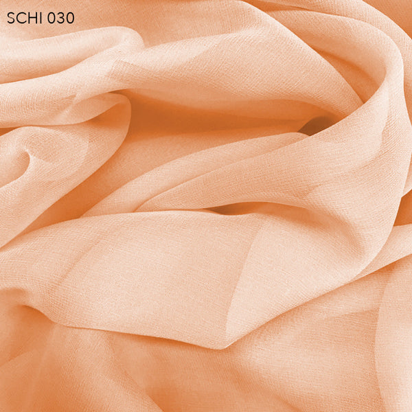 Silk Chiffon - Nude Orange - Fabrics & Fabrics