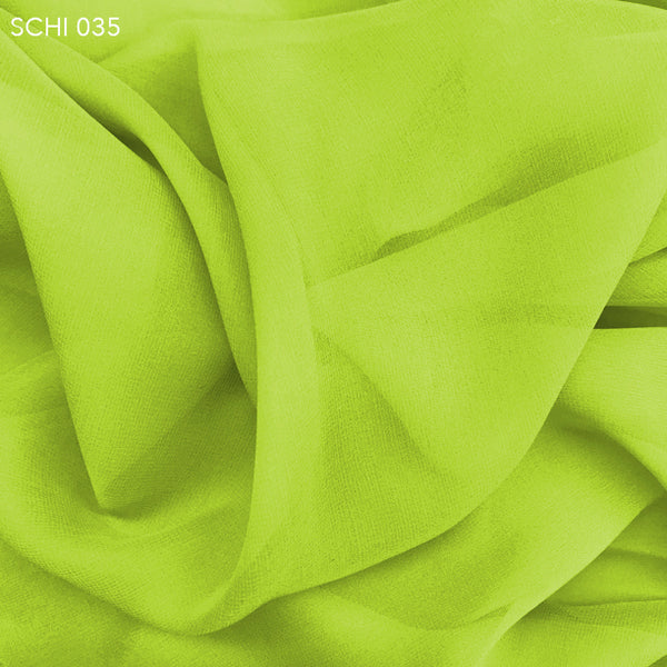 Silk Chiffon - Yellow Green - Fabrics & Fabrics