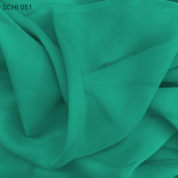 Silk Chiffon - Teal Green