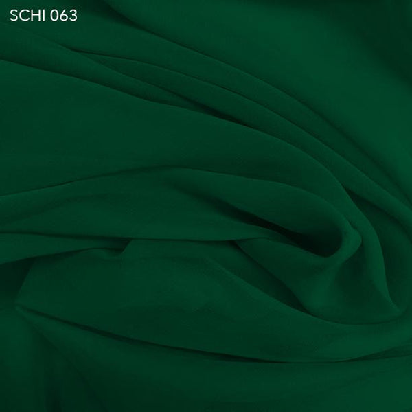 Hunter Green Silk Chiffon - Fabrics & Fabrics