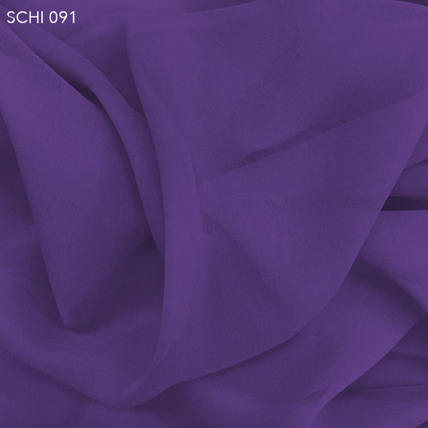Silk Chiffon - Purple Flower - Fabrics & Fabrics