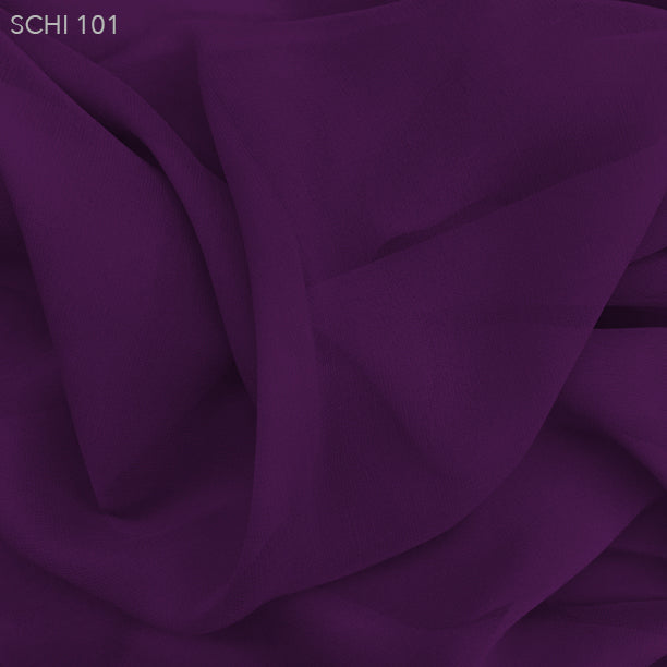 Silk Chiffon - Electric Purple - Fabrics & Fabrics