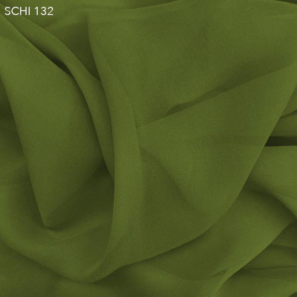 Pickle Green Silk Chiffon - Fabrics & Fabrics