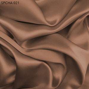 Silk Charmeuse - Toasted Almond - Fabrics & Fabrics